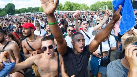 Festival goers at Wireless this year. Picture: PA