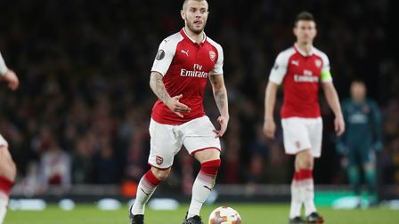 Jack Wilshere of Arsenal in the UEFA Europa League game between Arsenal v Atlético Madrid at the Emi