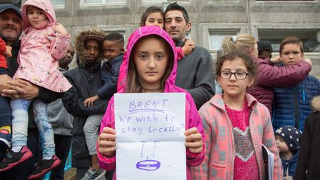 Rihanna Bakri, 9, soon to be evicted from South Kilburn's Hereford House along with more than 100 ot