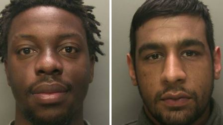 Aaron Redman (left) and Imbrahim Dadd jailed for drug offences. Picture: Surrey Police