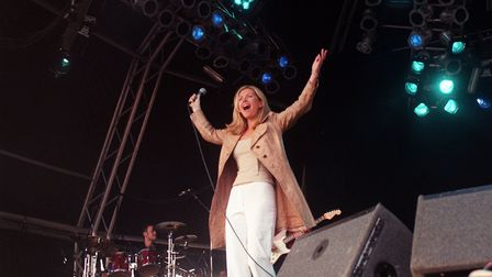 Sarah Cracknell pictured at the V98 festival promoting Good Humor - first time around. Picture: Ben