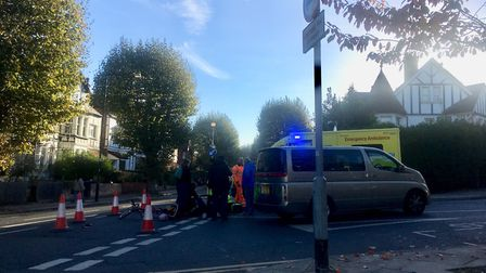 Humphrey Milles was attended to by the police and ambulance service after the crash. Picture: Daniel