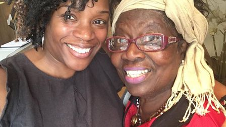 Lorraine King with Dame Betty Asafu Adjaye who founded the Mission Dine Club in Harlesden