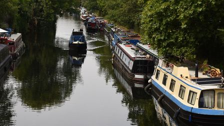 The Regent's Canal by Victoria Park.