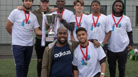 Finsbury Park B team were victorious in the Peace Cup Football Tournament. Picture: Zakariya Nur
