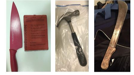 Weapons seized as part of Operation Hope. Picture: MET POLICE