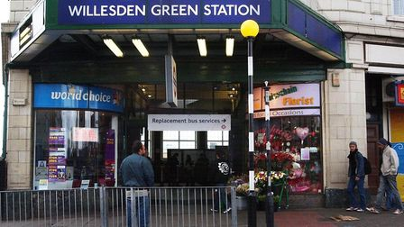 Willesden Green Station, in north-west London. Picture: PA/Fiona Hanson
