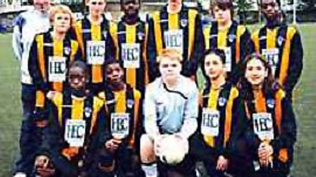 Aiden O'Brien (back row, middle) with his Isledon Wolves colleagues earlier in his career (pic: Isle