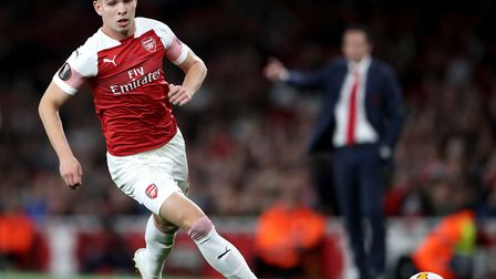 Arsenal's Emile Smith Rowe in Europa League action (pic Nick Potts/PA)