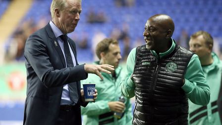 Queens Park Rangers manager Steve McClaren (left) before the Sky Bet Championship match at Reading (