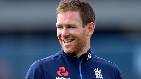 England's Eoin Morgan during a nets session (pic Anthony Devlin/PA)