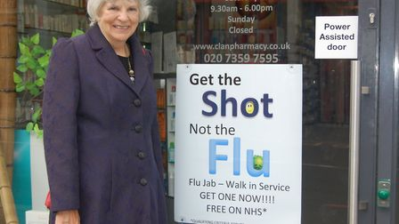 Cllr Janet Burgess got her flu jab early and is urging others to do the same. Picture: Islington Cou