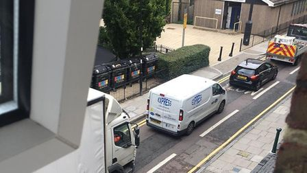 Traffic on Lever Street caused by no right turn. Picture: Trevor Hankins