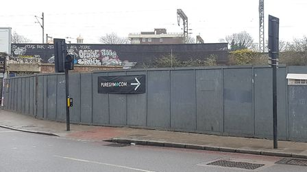 The 240 Seven Sisters Road site last year. Picture: Harry Taylor