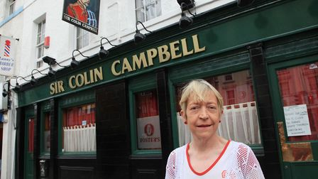 Mary Forde of Sir Colin Campbell pub in 2012. Picture: Jonathan Goldberg