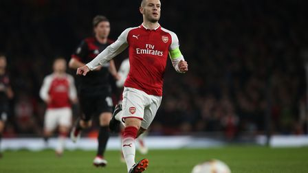 Jack Wilshere of Arsenal in the UEFA Europa League game between Arsenal v A.C. Milan at the Emirates