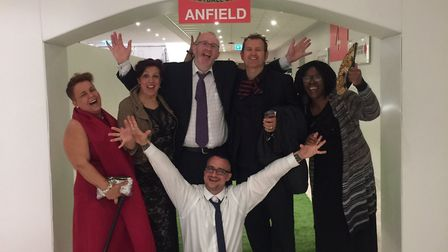 The Choice and Control team - including peer mentors - celebrate the award win in Liverpool. Picture