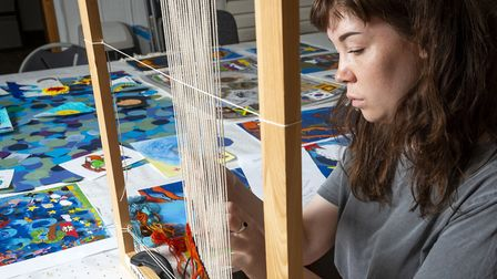 West Dean Studios are weaving a tapestry for The Charterhouse. Picture: West Dean Studio