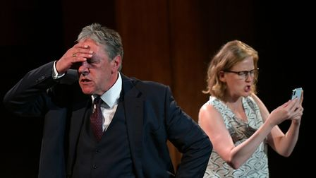 Tim Bentinck of The Archers fame takes the lead role in Brexit: The Play. Image: Steve Ullathorne