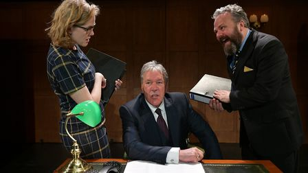 Pippa Evans (left) and Bentinck are joined by a new cast in Khan and Salinsky's play. Image: Steve U