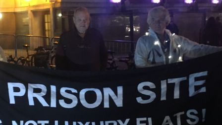 Cllr Gary Heather and other campaigners advocate turning the Holloway Prison site into council housi