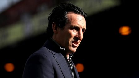 Arsenal manager Unai Emery inspects the pitch prior to the Premier League match at Selhurst Park, PA