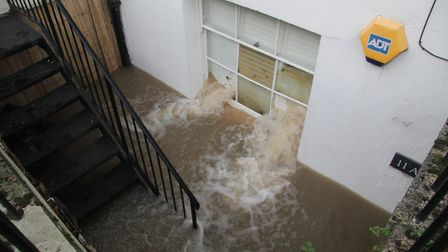 Devastation caused by the flooding in Upper Street. Picture: Paul Wood