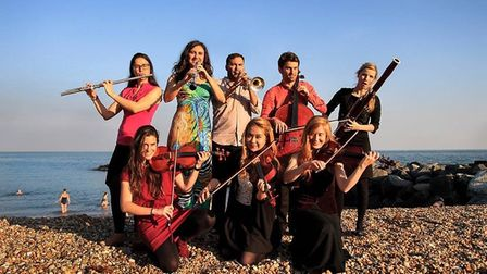 The Orchestra before a concert in Folkestone on World Peace Day, September 21.