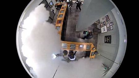 CCTV still of smash and grab raid in Brent Cross Picture: CPS