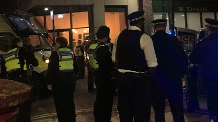 Police were called to Clifton Terrace amid reports of a man with knife wounds to his buttock. Pictur