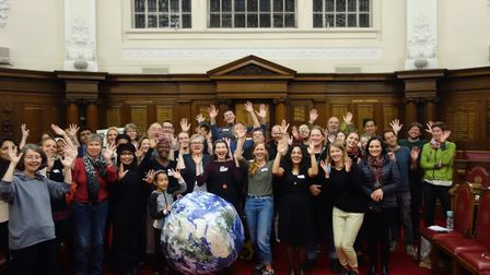 Green campaigners. Picture: OUR BOROUGH OUR PLANET/FOSSIL FREE ISLINGTON