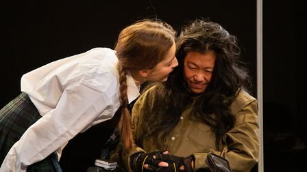 Flora Spencer-Longhurst and Lucy Sheen in A Pupil at Park Theatre. Picture: Meurig Marshall.