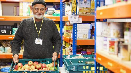 Abdul Karim, foodbank volunteer at Sufra NW London. Picture: Sufra NW