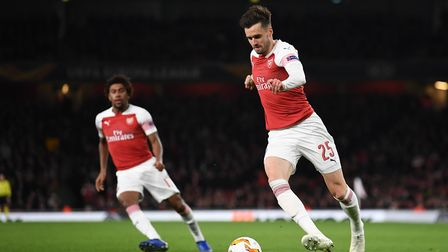 Carl Jenkinson of Arsenal during the Europa League match at the Emirates Stadium. Picture by Martyn