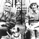 First World War veteran George Sleet with his wife Winifred Sleet and dog Pat in Islington. Picture: