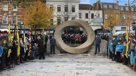 Remembrance Day at Islington Green on Sunday. Picture: Islington Council