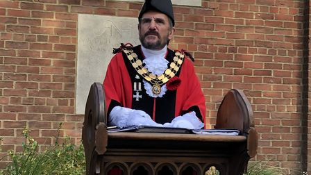 Remembrance Day at Islington Green on Sunday: mayor of Islington Cllr Dave Poyser. Picture: Islingto