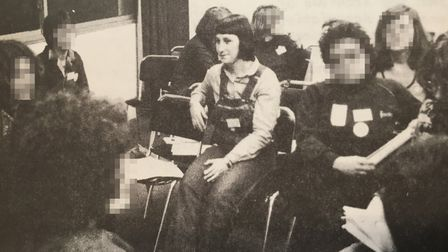 A picture of Sandy Marks in the IGA conference newsletter in April 1980