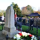 A retired Gurkha lays a wreath at the Barham Park War Memorial. Picture: British Gurkha Nepalese Ass