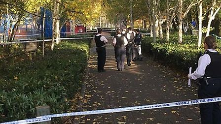 There was a stabbing in Elthrone Park this afternoon. Picture: Islington Gazette