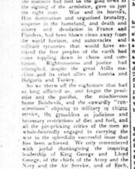 How the Kilburn Times, then known as the Willesden Chronicle, reported the end of the war in Novembe