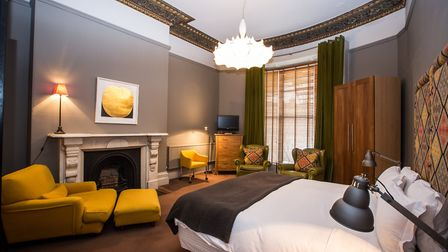 A hotel room at Number 31, which offers a charming retreat from the busy city centre.