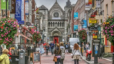 A bustling scene in one of Dublin's most famous shopping districts: Grafton Street. Picture: jamegaw