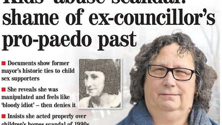 The Gazette front page from May 2017 exposing Sandy Marks' past.