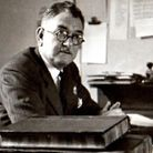 William Percival in the Willesden Chronicle and Kilburn Times offices in the early 1940s.