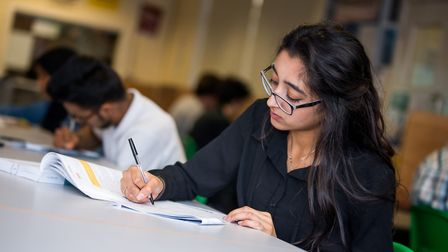Preston Manor former sixth former Deevya Patel who scored As in Chemistry and Biology and A* in Art