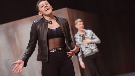 Charlotte Josephine takes the role of Mercutio as Romeo and Juliet comes to the Barbican. Picture: T
