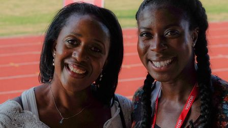 Track Academy Founder Connie Henry with former Olympic, World and Commonwealth 400m champion Christi