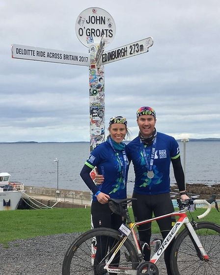 Timothy O'Sullivan and fiancee Kacey O'Driscoll cycled the length of Britain. Picture: Timothy O'Su