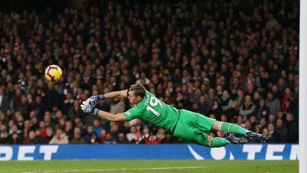 Bernd Leno of Arsenal. Picture DANNY LOO